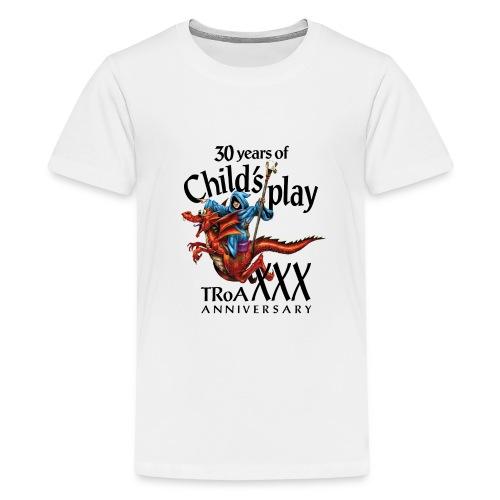 TRoA 30 år - Sort skrift - Teenager premium T-shirt