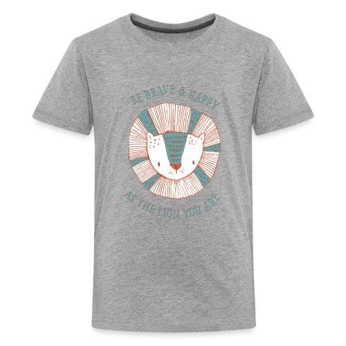 Brave lion - Teenage Premium T-Shirt