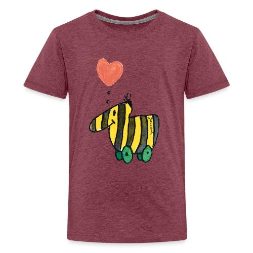 Janoschs Tigerente mit Herz - Teenager Premium T-Shirt
