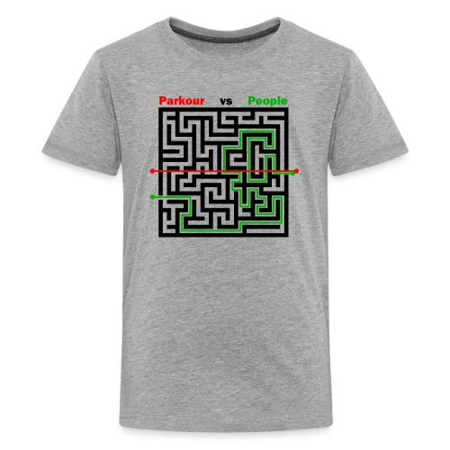 Parkour Maze parkour vs people - Teenager premium T-shirt