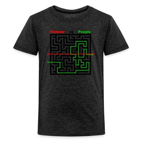 Parkour Maze parkour vs people - Teenager premium T-shirt