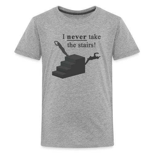 I Never Take The Stairs Grey Parkour - Teenager premium T-shirt