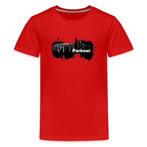 Parkour Splash New York - Teenager premium T-shirt