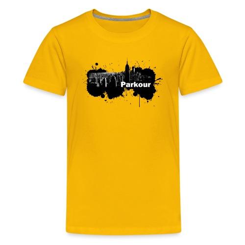 Parkour Splash New York - Teenager premium T-shirt