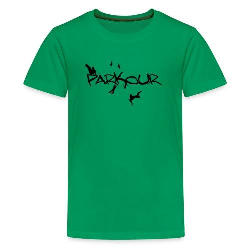 Parkour Sort - Teenager premium T-shirt