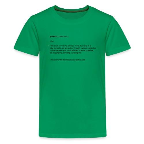 parkour dictionay - Teenager premium T-shirt