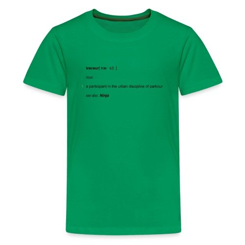 Traceur dictionary see also ninja - Teenager premium T-shirt