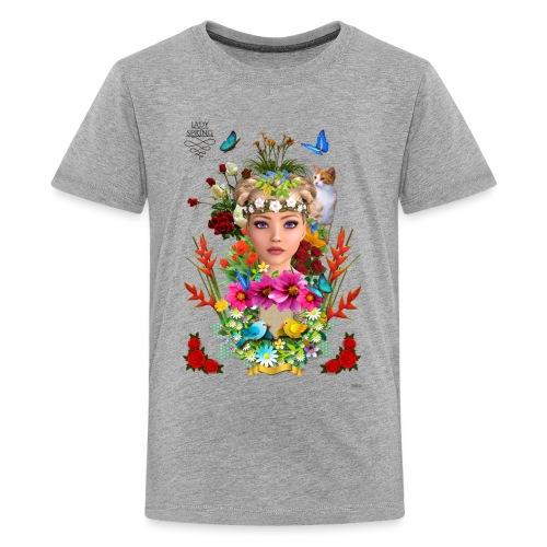 Lady spring - By t-shirt chic et choc - T-shirt Premium Ado