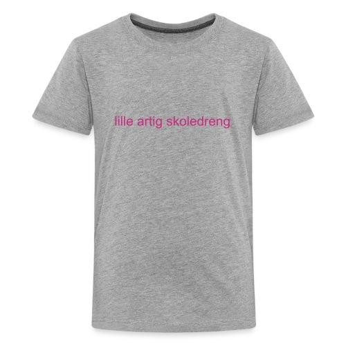 lille artig skoledreng - Teenager premium T-shirt