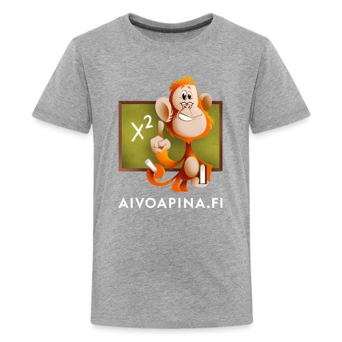 Aivoapina valkoinen teksti - Teinien premium t-paita