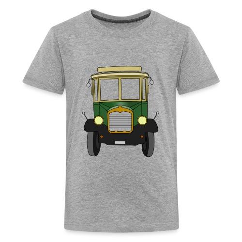 Oldtimer Ansicht von vorne (schwarz) - Teenager Premium T-Shirt