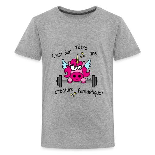 Licorne Muscu Créature Fantastique - T-shirt Premium Ado