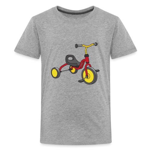 Rot-gelbes Kinderdreirad - Teenager Premium T-Shirt