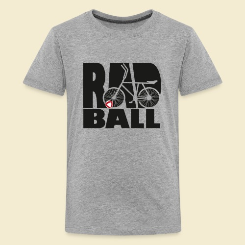 Radball | Typo Black - Teenager Premium T-Shirt