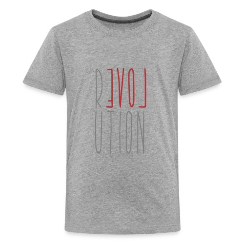 Love Peace Revolution - Liebe Frieden Statement - Teenager Premium T-Shirt