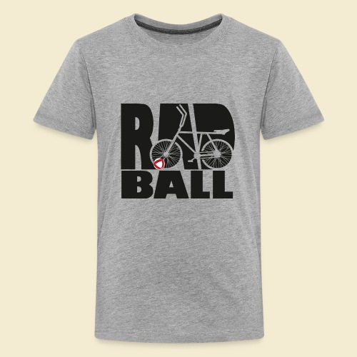 Radball   Typo Black - Teenager Premium T-Shirt