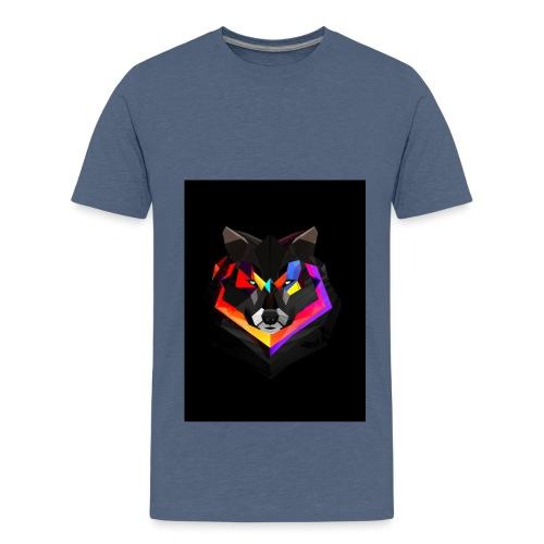 1200 Abstract Wolf l - Teenage Premium T-Shirt