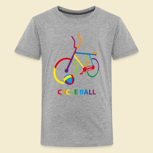Radball | Cycle Ball Rainbow - Teenager Premium T-Shirt