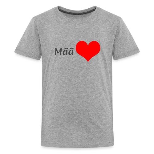 Mää sydän - Teinien premium t-paita