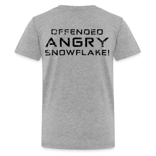 Black Negant logo + OFFENDED ANGRY SNOWFLAKE! - Teenager premium T-shirt