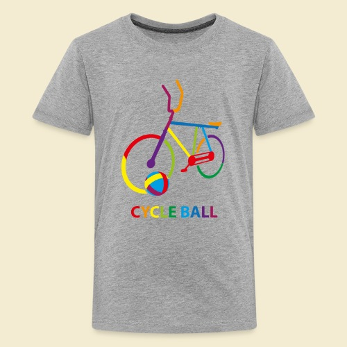Radball | Cycle Ball Rainbow - Teenager Premium T-Shirt