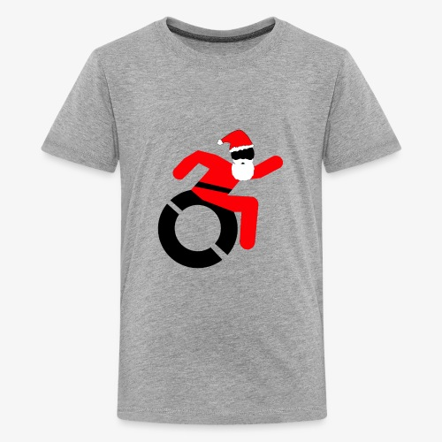 Kerstman in een rolstoel, speciaal voor de Kerst - Teenager Premium T-shirt