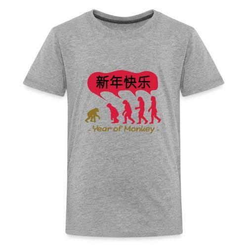 kung hei fat choi monkey - Teenage Premium T-Shirt