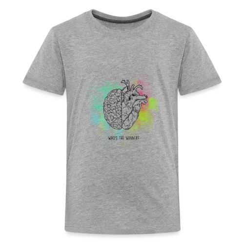 Brain vs Heart - Maglietta Premium per ragazzi