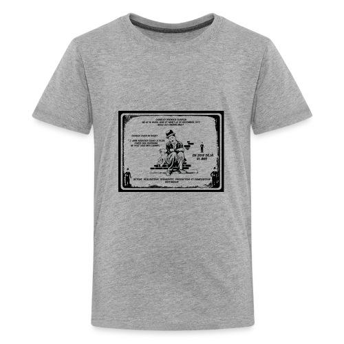 charlie chaplin, annniversaire disparition - T-shirt Premium Ado