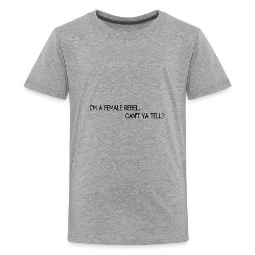 Female rebel - Camiseta premium adolescente