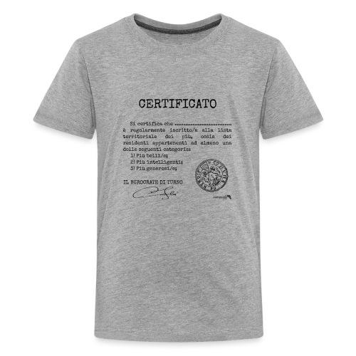 1.07 Certificato Piu Generico (Aggiungi nome) - Maglietta Premium per ragazzi