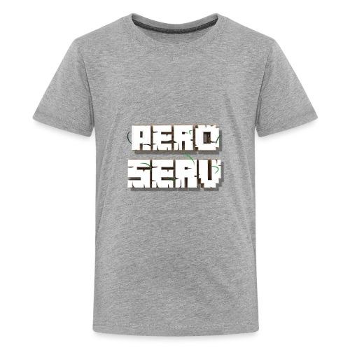 Logo AeroServ - Blanc - T-shirt Premium Ado