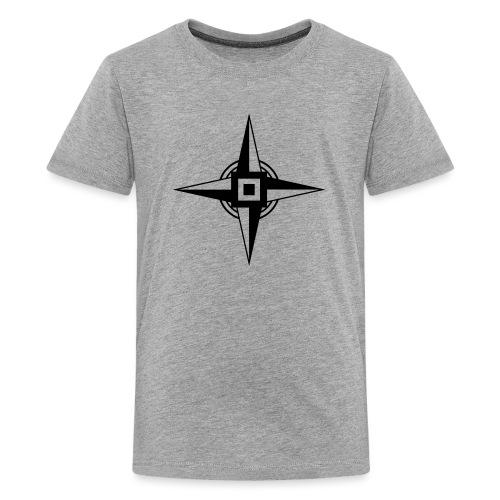 Erdenstern, Symbol, Vierzackiger Stern, Windrose - Teenager Premium T-Shirt