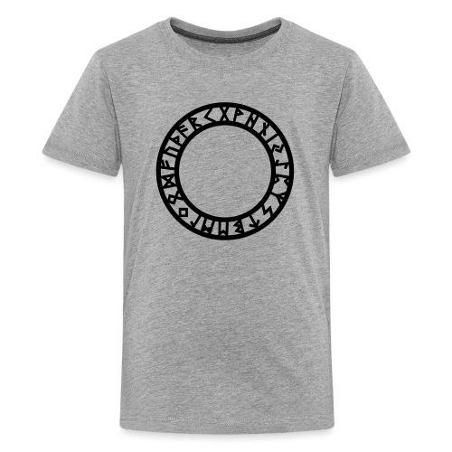 Runen Kreis, Magie Symbol, Futhark, Germanisch - Teenager Premium T-Shirt