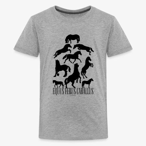 Equus Ferus Caballus Black - Teinien premium t-paita