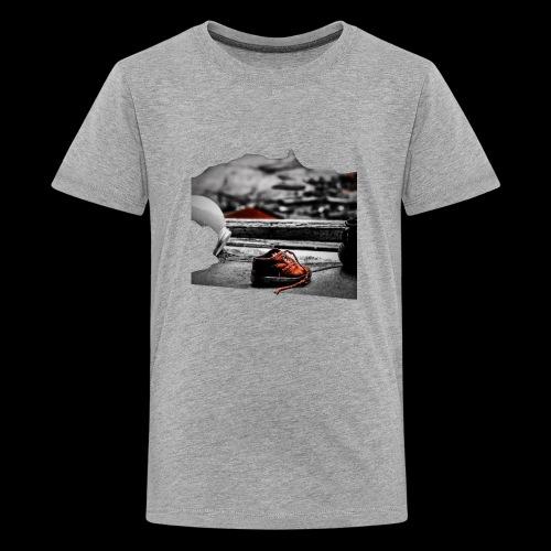 sko - Premium-T-shirt tonåring