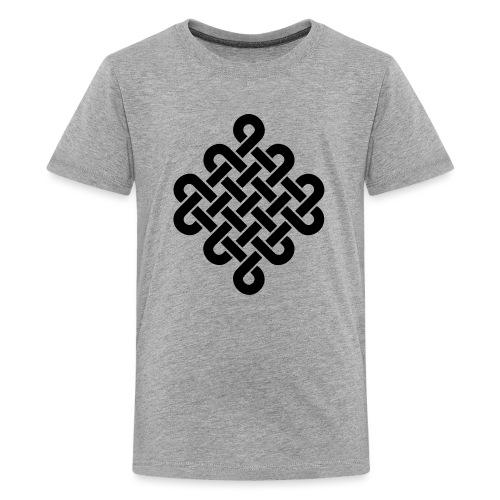 Unendlich Symbol Tattoo Buddhismus Knoten endlos - Teenager Premium T-Shirt