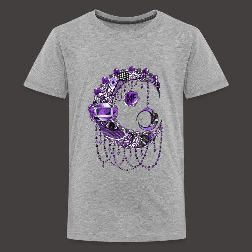 Lune dentelle Violette - T-shirt Premium Ado