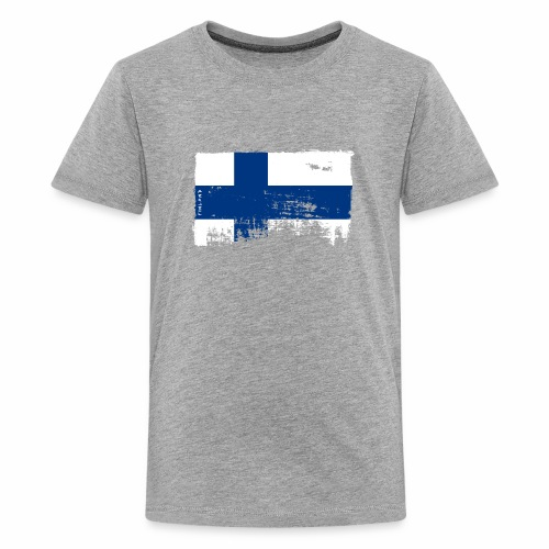 Suomen lippu, Finnish flag T-shirts 151 Products - Teinien premium t-paita