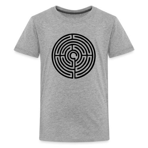 Labyrinth Schutzsymbol Lebensweg Magie Mystik - Teenager Premium T-Shirt
