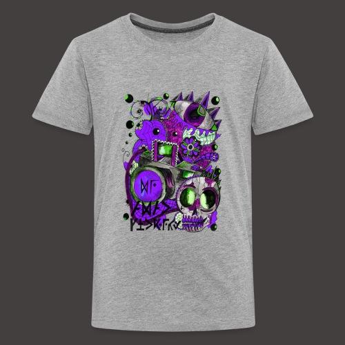 AGAC Picture Vert et Violet - T-shirt Premium Ado