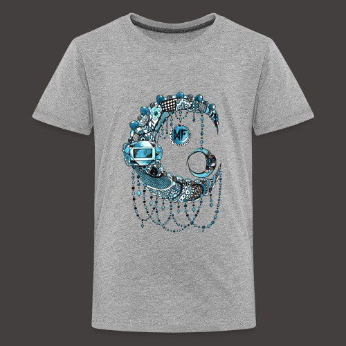 Lune dentelle bleue - T-shirt Premium Ado