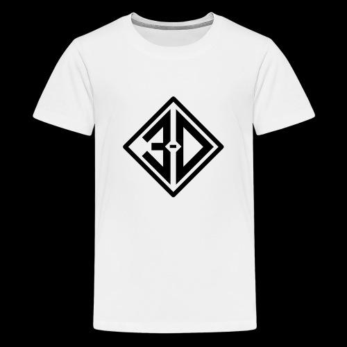 3d N et B - T-shirt Premium Ado