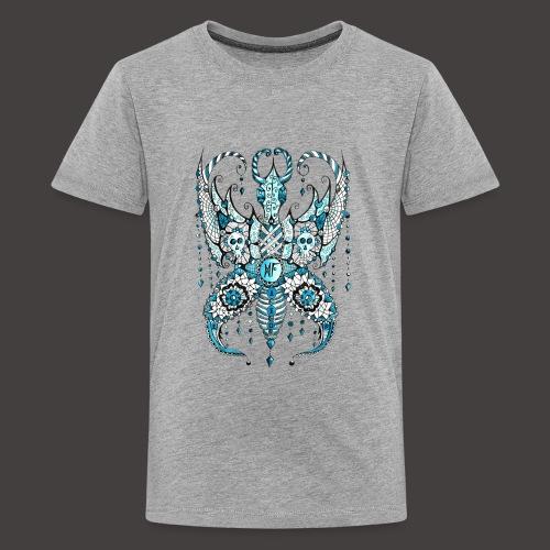 Papillon Lilou Turquoise - T-shirt Premium Ado