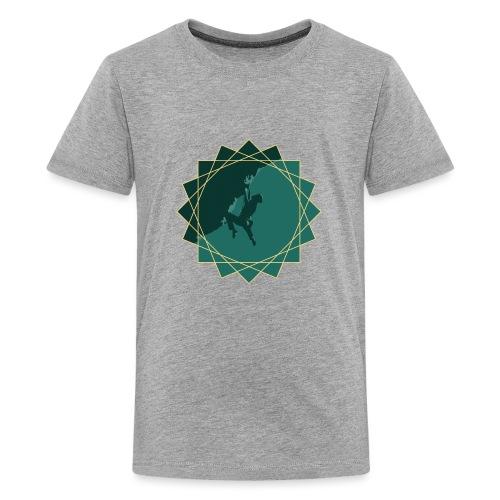 Kletterer beim Klettern - Teenager Premium T-Shirt