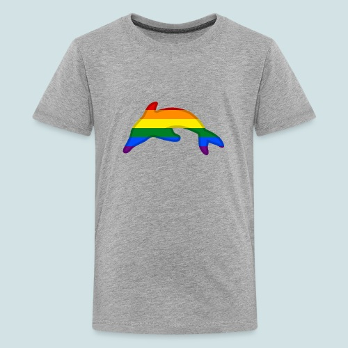 Gay / Rainbow Dolphin - Teenage Premium T-Shirt