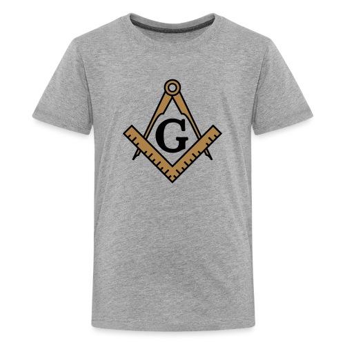Freimaurer Symbol, Wappen Zirkel & Winkelmaß - Teenager Premium T-Shirt
