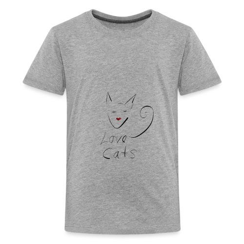 Cats love - Teenage Premium T-Shirt