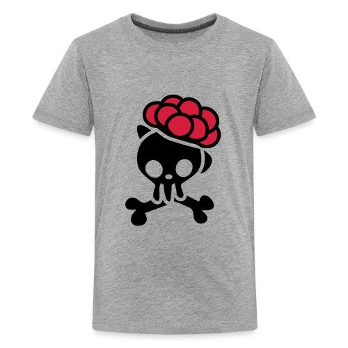 Totenkopf mit Bollenhut - Teenager Premium T-Shirt
