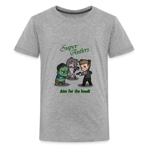 SuperAntlers Zombie Slayer - Teenage Premium T-Shirt